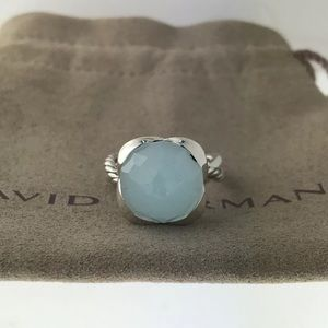 🌼DAVID YURMAN Silver Continuance Ring  Chalcedony